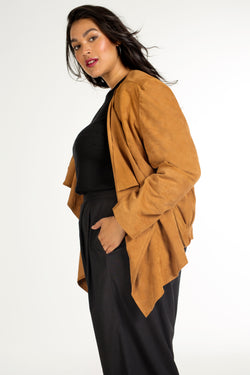 Plus-size jacket: Petra Suede Jacket