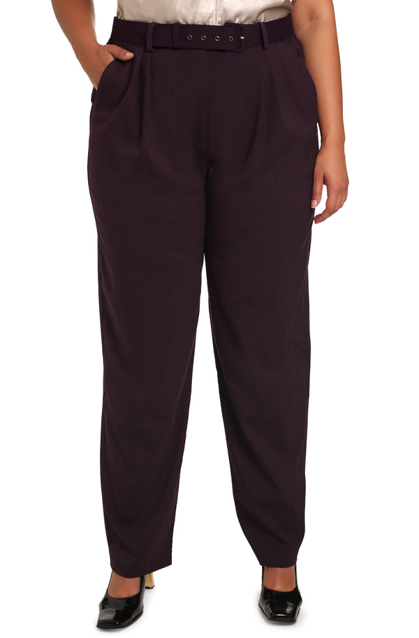 Buy plus-size bottoms online: Cicilia Tailored Palazzo Trousers