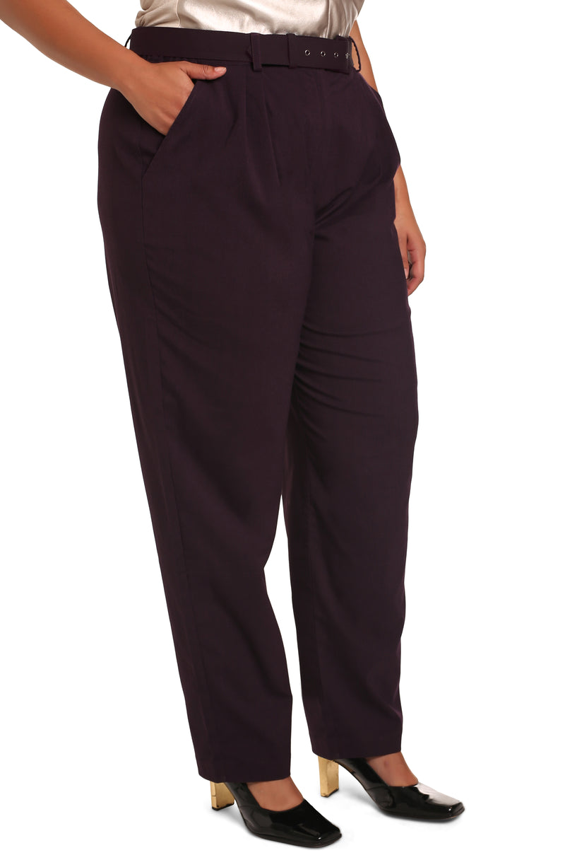 Buy plus-size pants online: Cicilia Tailored Palazzo Trousers