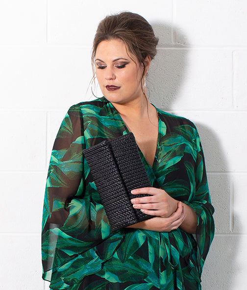 INNES - FOLDED OVER CLUTCH BAG - PLUS SIZE FASHION ACCESSORY