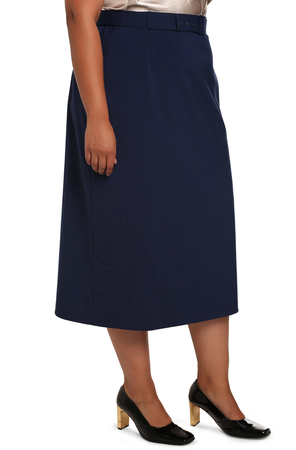 PLUS-SIZE BOUTIQUE FASHION - LISABETTA CLASSIC SKIRT WITH BELT