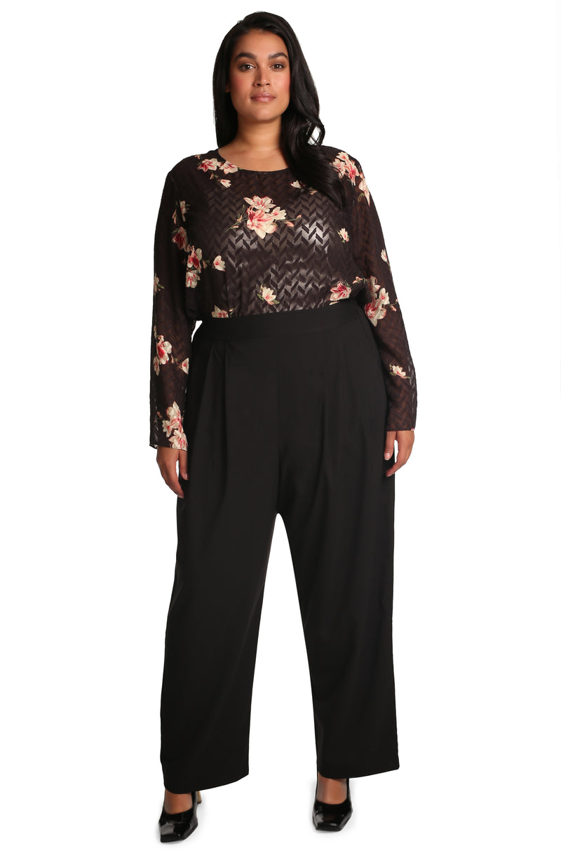 Clothing for curvy women: Serena Printed Top