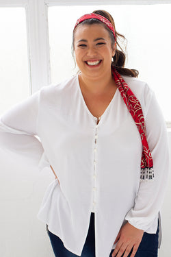 MARLY BUTTONED TOP FOR CURVY WOMEN