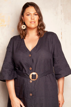 DRESS YOUR CURVES - JUDE LINEN DRESS