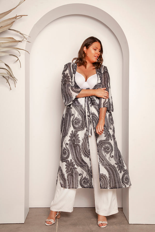 FASHION FOR CURVES - GISELE PRINTED DUSTER