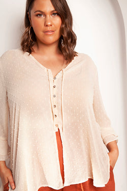 BETSY BUTTONED TOP FOR CURVY WOMEN