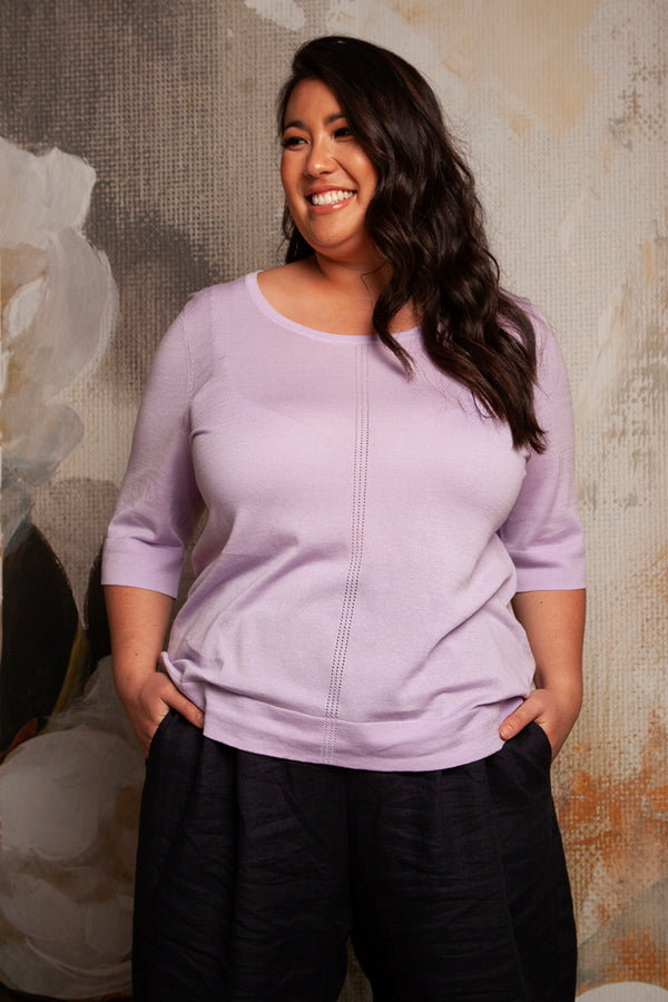 PLUS-SIZE BOUTIQUE FASHION - ELLA CREW NECK TOP