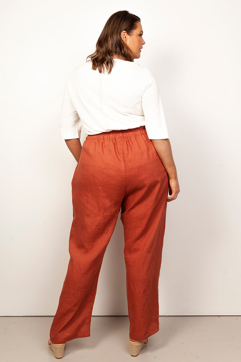 LEXI PULL-ON PALAZZO PANTS FOR CURVY WOMEN