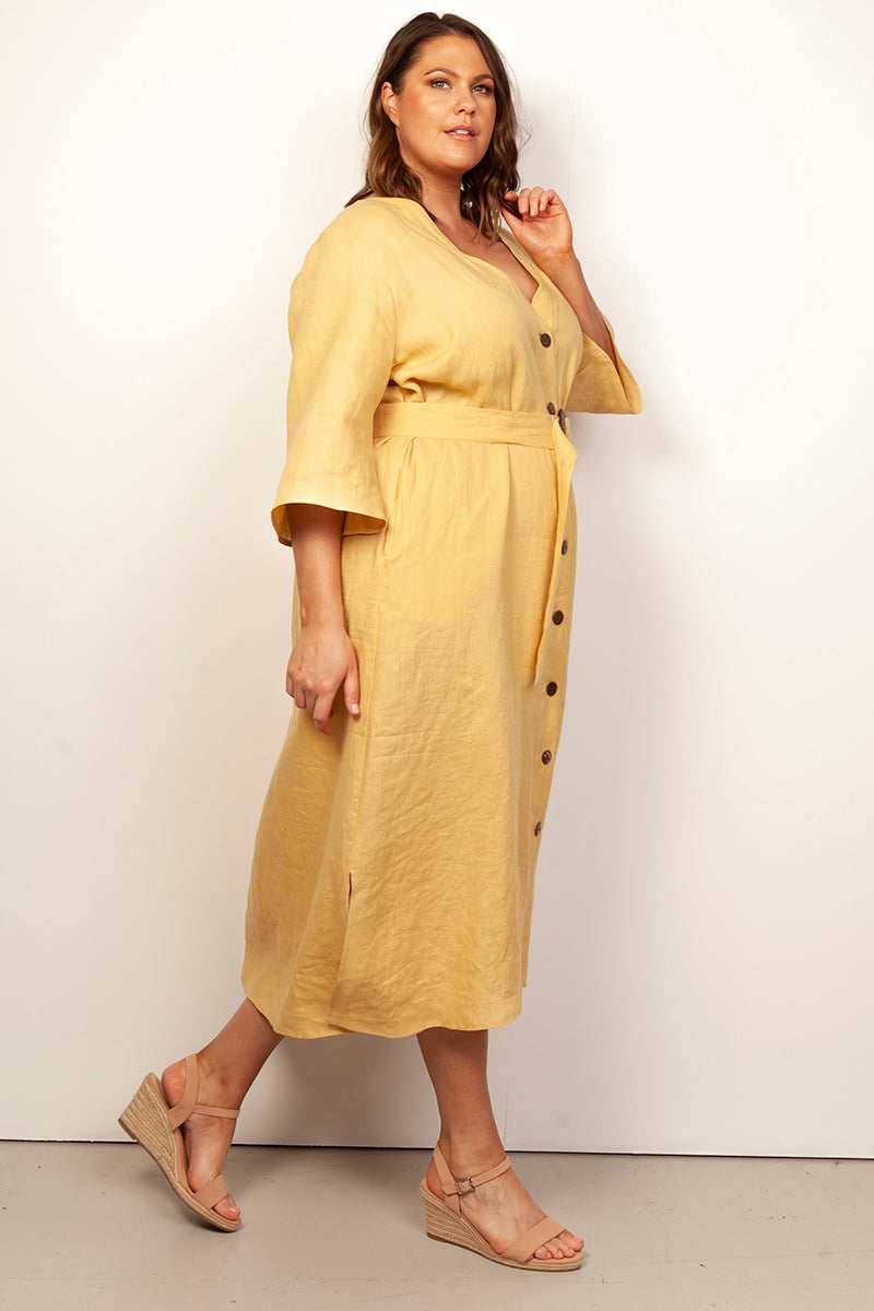 FASHION FOR CURVES - JUDE LINEN DRESS