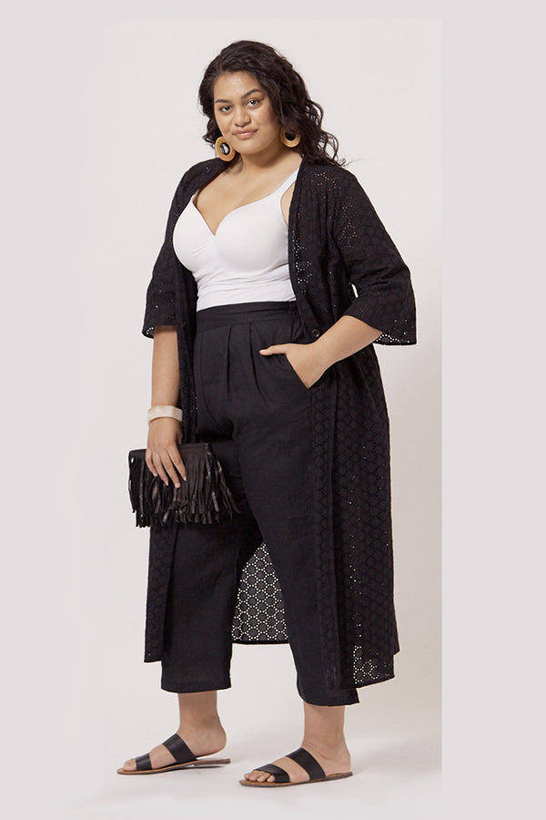 CAPRI PULL-ON PALAZZO PANTS FOR CURVY WOMEN - CAPRI LENGTH