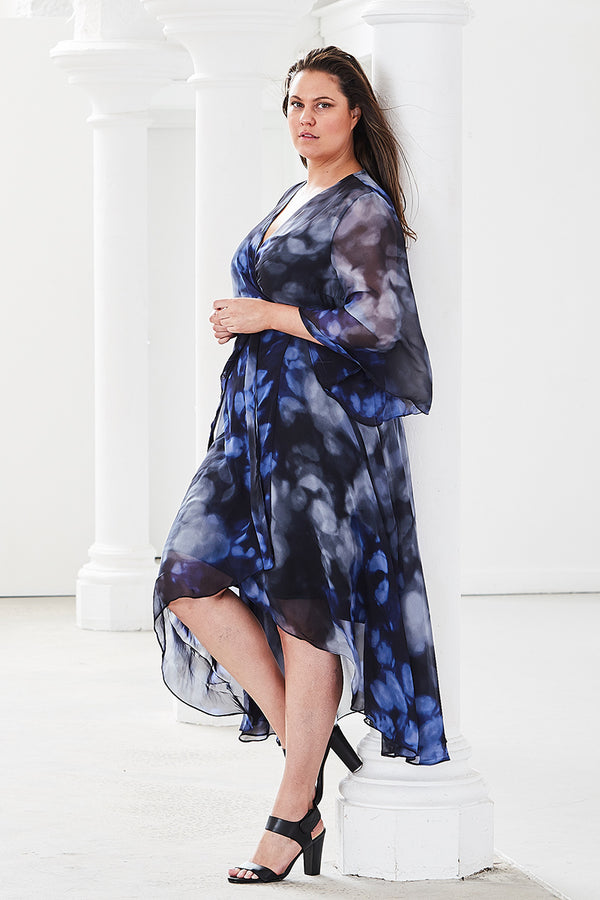 PLUS-SIZE FASHION - NADIA TWILIGHT WRAP DRESS