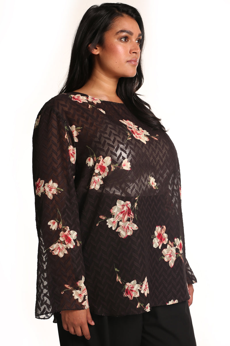 Buy women's plus-size clothes online: Serena printed top