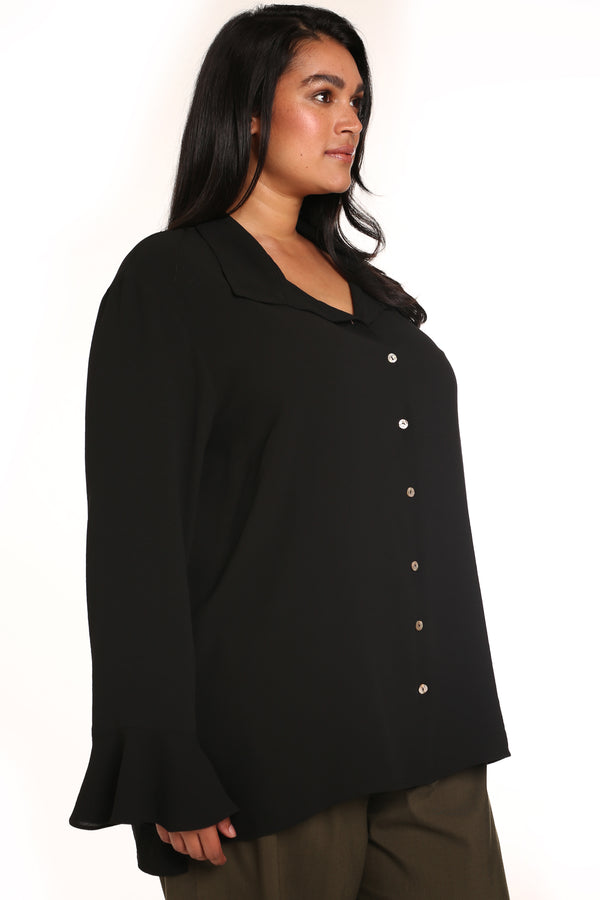 Plus-size clothing: Simona Hammered Slouchy Shirt