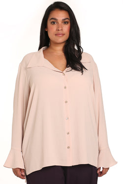 Plus-size boutique fashion: Simona Hammered Slouchy Shirt