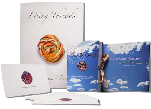 Living Threads Book Manual Colour Cotton Therapy Book And Genharmony Set Of Three empowers individuals to transmute their darkness and fear into an unlimited potential for light, love and strength. It is the magic of the soul that can vibrationally lift us into greater joy and expansion.