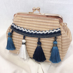 Casey Tassel Bag (Blue)