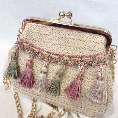 Casey Tassel Bag (Green)