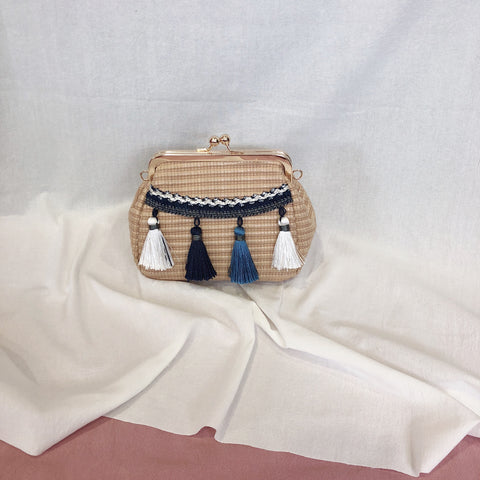 *BACKORDER* Casey Tassel Bag (Dark Blue)