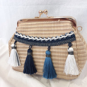 Casey Tassel Bag (White)