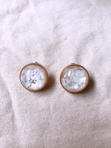 Rhine Earrings (White)