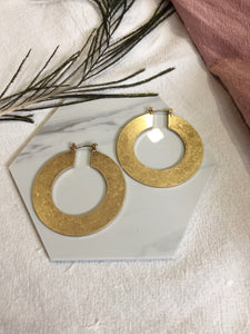 Rhea Hoop Earrings (Gold)
