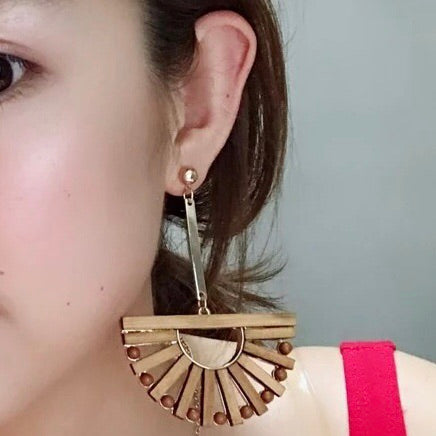 Bali Dangle Wood Earrings