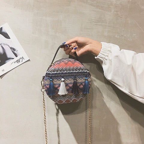 Hazel Tassel Bag (Blue)