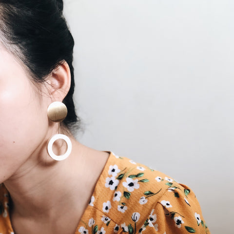 Pansie Earrings