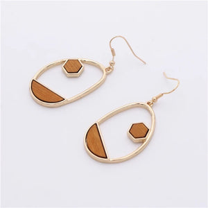 Nova Dangle Wood Earrings