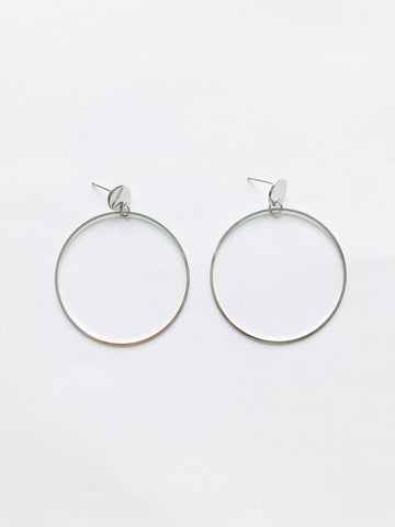 Iola Hoop Earrings (Silver)