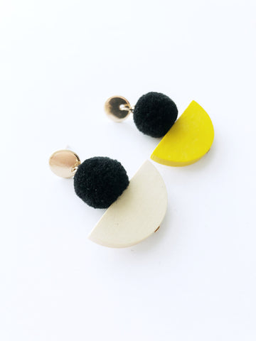 Vanora Pom Earrings
