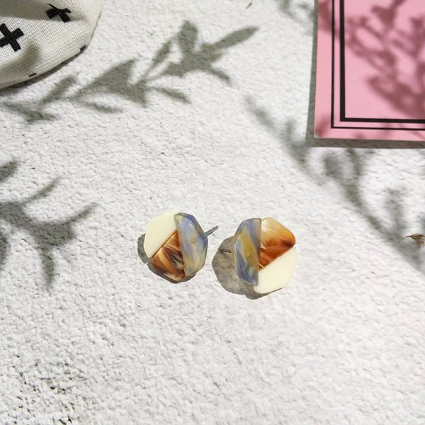 Mea Marble Earrings