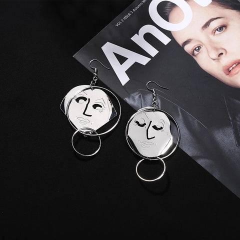 Quan Face Dangle Earrings