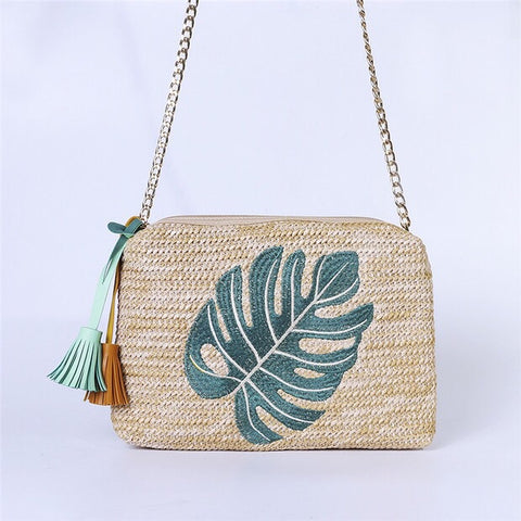 Nate Rectangular Bag (Palm leaf)