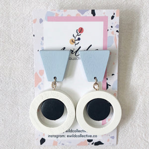 Elisa Earrings (White)