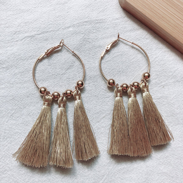 Sara Tassel Earrings (Gold)