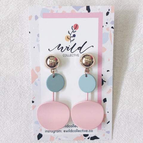 Everly Dangle Earrings (Pink)