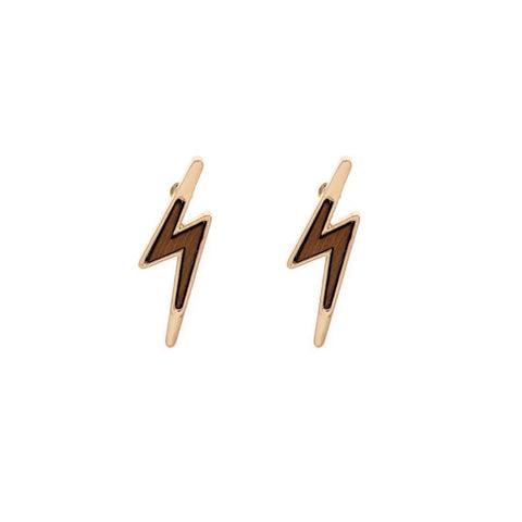 Thor lightning Wood Earrings