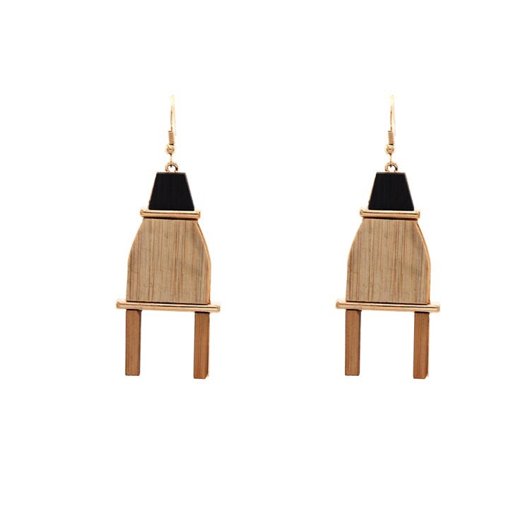 Lille Chair Wood Earrings