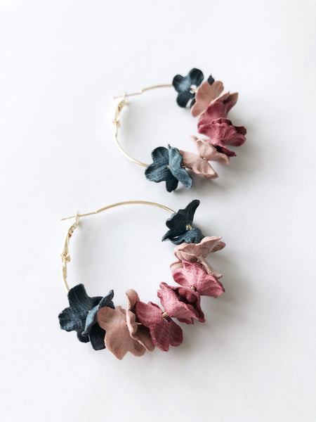 Saffi Hoop Earrings (Multi-Navy)