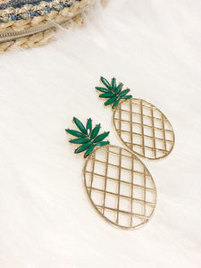 Pineapple Earrings II (Green)