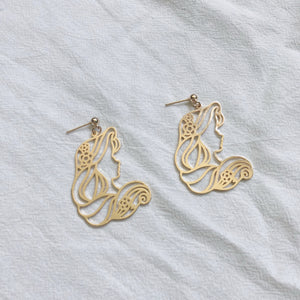 Princess Face Earrings