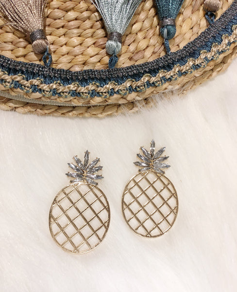 Pineapple Earrings II (Crystal)