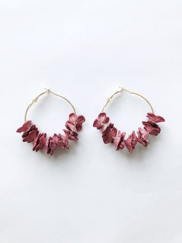 Saffi Hoop Earrings (Red)