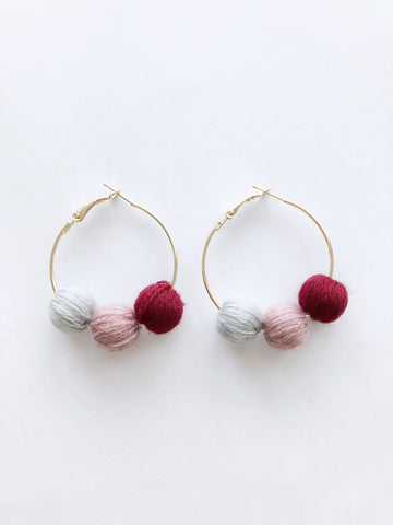 Paloma Hoop Earrings (Blush)