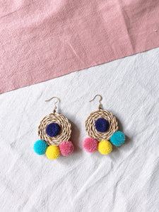Ida Rattan Pom Pom Earrings 10