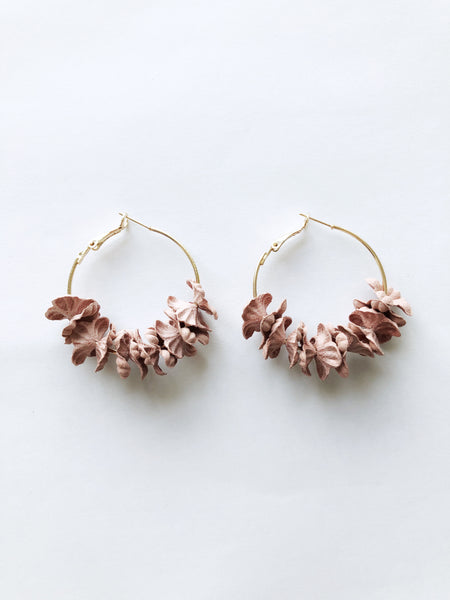 Saffi Hoop Earrings (Blush)