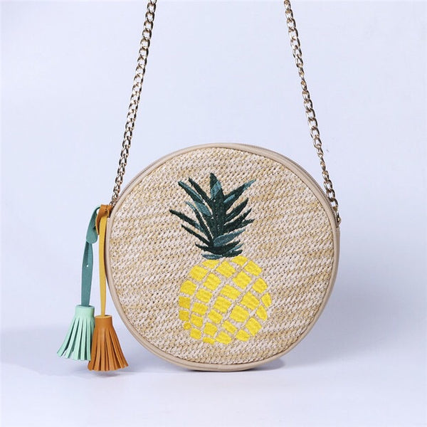 Nate Round Bag (Pineapple)