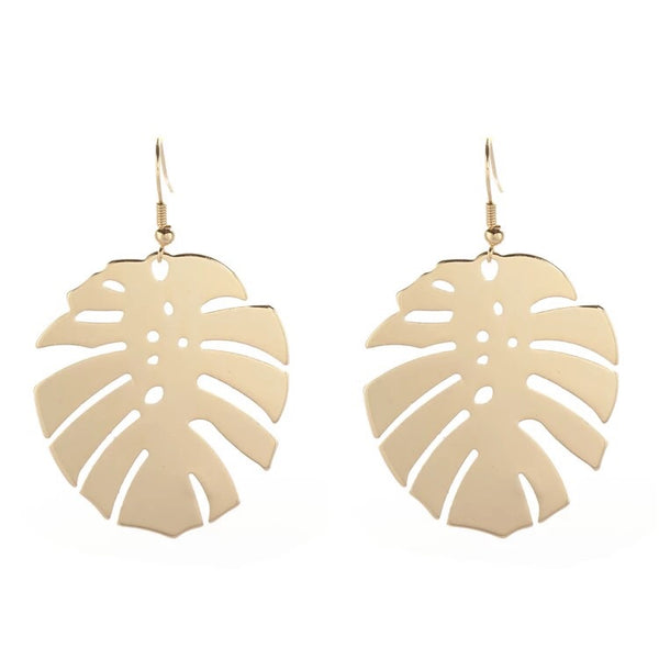 Goldie Leaf Dangle Earrings