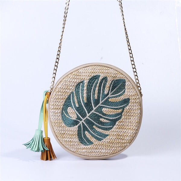 Nate Round Bag (Palm Leaf)